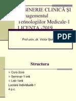 INGINERIE CLINICĂ ŞI Managementul Tehnologiilor Medicale