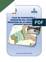 Plan de Prevención y Reducción de Desastres