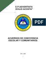 Acuerdos de Convivencia 2019-2020