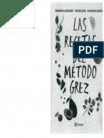 Recetas Del Método Grez