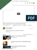 Billy Idol - Eyes Without a Face - Subtitulado Español & Inglés - YouTube