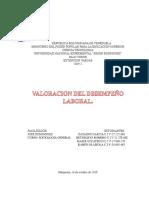 Valoracion Del Desempeño Laboral.