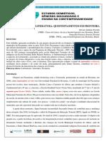 Letramento e Literatura Questionamentos Em Fronteira_versão Gislene