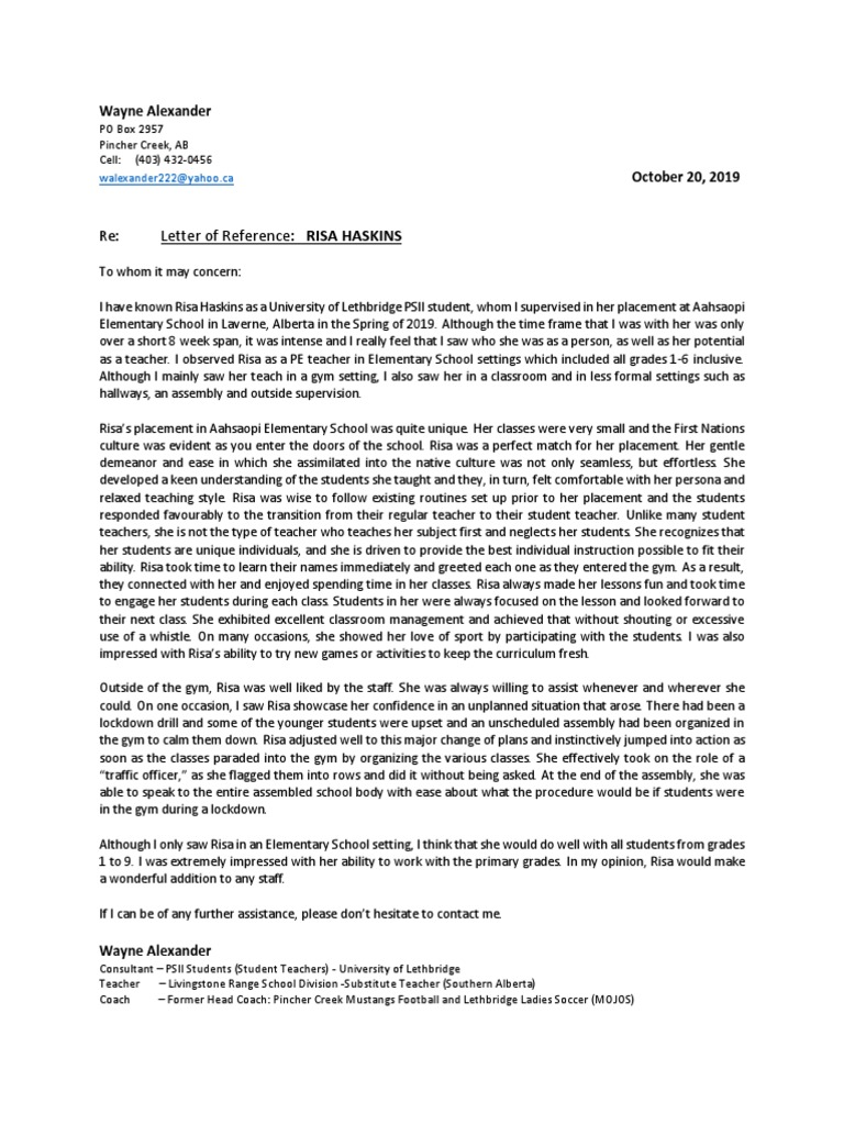 Letter Of Reference For Teachers from imgv2-1-f.scribdassets.com