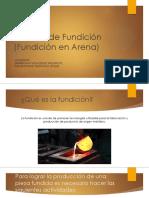 Fundicion en Moldes de Arena