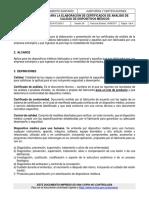 Guía Para Certificados de Análisis de Calidad de DMASS-AYC-GU011