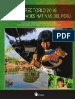 Directorio 2016 de Comunidades Nativas