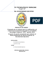 Proyecto de codificación y control de proyectos de emprendimiento