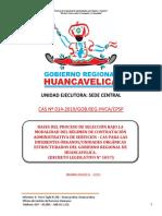 Bases Convocatoria Cas N° 014 - 2019 Sede Central Gobierno Regional