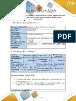 Guía de Actividades y Rúbrica de Evaluación_Paso 3_Aplicación de La Imagen y La Narrativa Como Instrumentos de La Acción Psicosocial