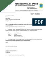 surat jemputan jurulatih senamrobik