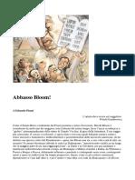 Edoardo Pisani - Abbasso Bloom (Articolo)