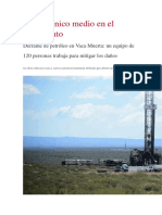 Derrame de Petroleo en Vaca Muerta 2018