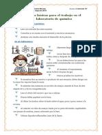 Normas Básicas Para El Trabajo en El Laboratorio de Química