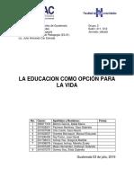 Educación Para La Vida