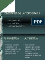Divisiones de La Topografia