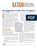 Immigration in the New Congress, Cato Immigration Reform Bulletin No. 8