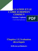 Evaluation Dans Le Cadre Commun