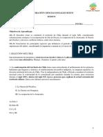 Prueba Conformación del Territorio Nacional de Chile Ciencias Sociales 6to básico