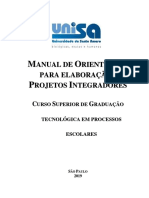 1.08.ET.manual Do Projeto Integrador - Organização Escolar