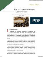 Résolution 1975 _(Intervention en Côte d'Ivoire_)