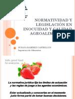 1 Normatividad y Legislación en Inocuidad y Calidad Agroalimentaria