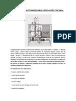 Planta Piloto Automatizada de Destilación Continua