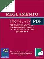 Lana Reglamento Prolana