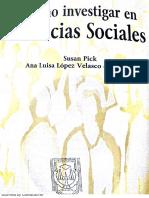 Como investigar en ciencias sociales Completo Susan Pick & Ana Luisa López Editorial Trillas