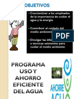 programa uso eficiente ahorro de agua