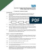 QEM Problem Set 1 - Cost of Quality and Statistics for Quality