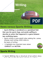 Sports Writing for Glan