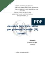 Informe I- Aplanadora