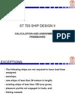 Ship Design Notes Freeboard
