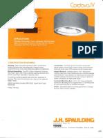 Spaulding Lighting Cordova IV Spec Sheet 8-84