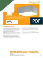 Spaulding Lighting Huntington II Spec Sheet 4-86