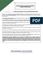 Requisitos visa chilena