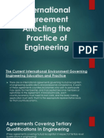 ECE LAWS International Agreement Affecting the Practice of Engineering