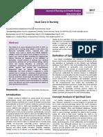 Literature Review on Spiritual Care in Nursing