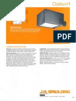 Spaulding Lighting Oakland II Spec Sheet 8-84