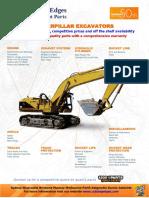 Caterpillar Excavators Equipment Parts Cutting Edges 7.11