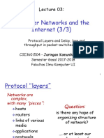 Jarkomdat03-Protocol Layers and Delay, Loss and Throughput in Packet-switched Networks