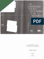 Thomas William y Znaniecki Florian El Campesino Polaco en Europa y America (Selección)