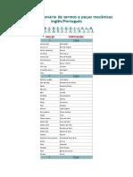 Pequeno Dicionário de Termos e Peças Mecânicas Port-Ingle -Word2010