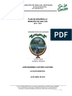 Plan de Desarrollo San Luis 2016 2019