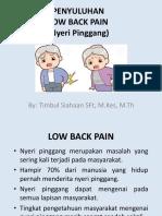 Penyuluhan Low Back Pain Gkpi
