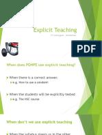 Explicit Teaching