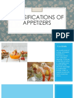 Classifications of Appetizers