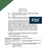 LEY DE GARANTIAS DIRECTIVA PRESIDENCIAL