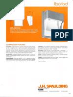 Spaulding Lighting Rockford Spec Sheet 5-82